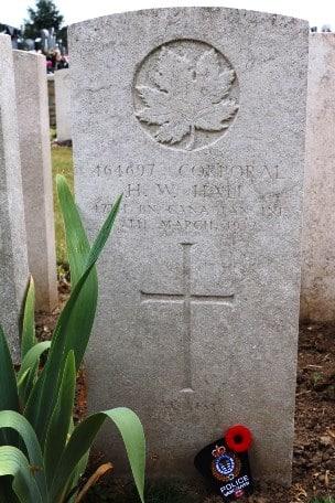 Hazen Winslow Hall grave marker