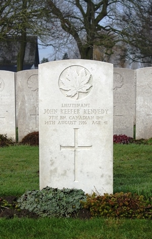 John Keefer Kennedy grave marker